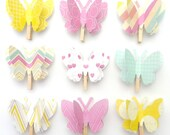 Malibu - Paper Butterfly Memo Clips - made to order