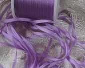 Silk ribbon 2mm in Lilac - 5 yards  J102