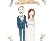 Personalised Illustration, Custom Portrait, Original Portrait, Custom Couple Portrait