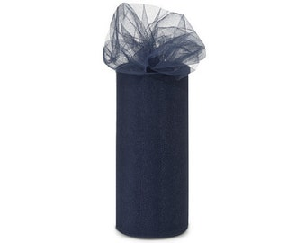 """108"""" x 50 yd  Bolt of Top Quality Made In The USA Tulle Bolt -NAVY"""