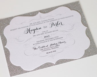 Elegant Wedding Invitation Classic Lace