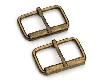 "30pcs - 1 1/4"" Roller Pin Belt Buckles - Antique Brass - Free Shipping (ROLLER BUCKLE RBK-118)"