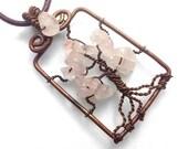 Rose Quartz Tree Necklace