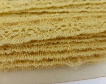 Vintage Yellow Cotton Lace  L724
