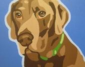 Custom 14x14 Pop Art Dog Portrait Painting