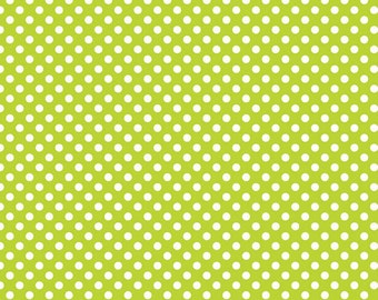 Riley Blake Small Lime Dots  1/2 yard