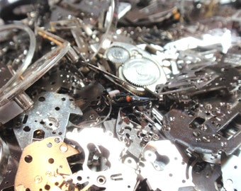 Best Price on Etsy Steam Punk Supplies 1 Oz 28 Grms Watch Pieces Movement Parts Reclaimed Mixed Media Jewelry Making Steampunk A5