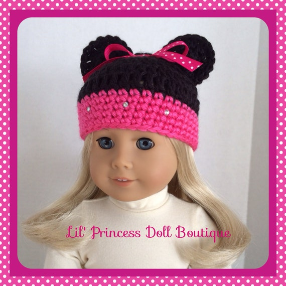 Crochet Minnie Mouse Doll : American Girl Doll Clothes Minnie Mouse Crochet Hat Red or