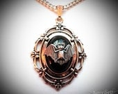 Victorian Bat Necklace // Gothic Necklace // Bat Jewelry