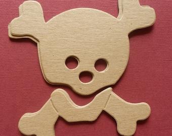 Skull n Crossbones (5) - Raw unfinished - CHIPBOARD Die Cuts