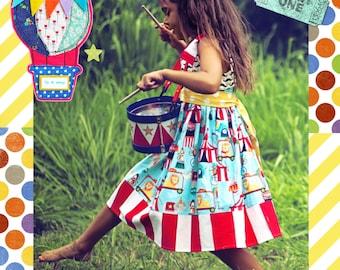 Circus Dress, Circus Birthday Dress, Party Dress, Circus