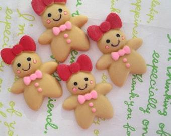 New item Ginger Bread cookies 4pcs 31mm x 24mm