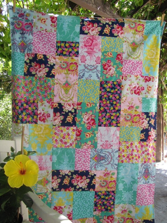 Jennifer Paganelli Lucky Girl Patchwork and Minky Blanket Made to Order