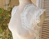 Snow Tiger Ballade II white sleeveless bridal lace wedding bolero jacket wedding shrug bridal lace bolero jacket wedding bolero