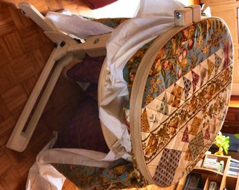 Barnett's Laptop Hoop with Floor Stand is perfect for hand quilting and Rug Hooking