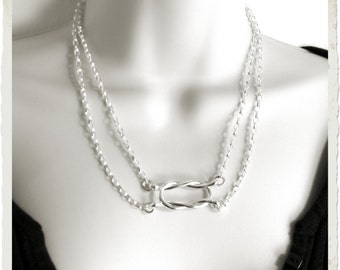 Made To Order Knot an Ordinary Kind of Love Shibari Themed Sterling Silver Symbolic Public Day Slave Collar
