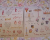 Happy Birthday & Friendship Stickers from Susan Branch 2 designs, 4 sheets