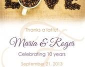 Custom Coffee Anniversary Favors for Maria