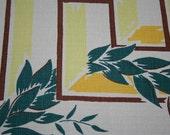 Vintage Deco Simtex Tablecloth Russel Wright Heywood Wakefield