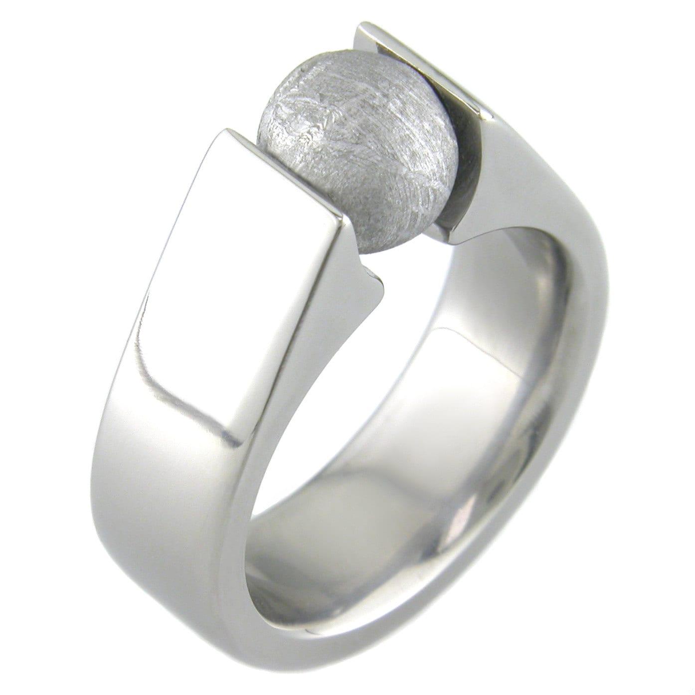 meteorite sphere titanium ring - Meteorite Wedding Ring