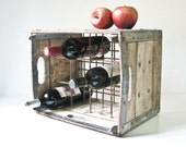 Vintage Milk Crate - Wood Box - Wine Rack - BeeJayKay