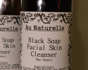 Black Soap Cleanse  -    Two Ounce Size -   Oily Skin Cleanser