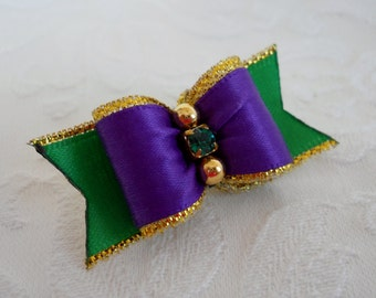 Dog Bow-  Mardi Gras Dog Bow