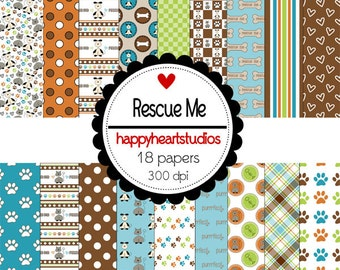 Digital Scrapbook RescueMe-INSTANT DOWNLOAD