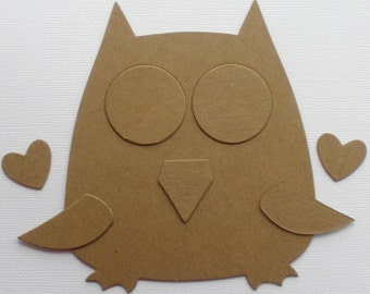 OWL  - CHiPBOARD Die Cuts - Animal Bare Craft Shapes