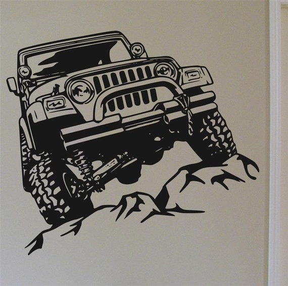 off road rock crawler vinyl wall decal graphic by mojographics. Black Bedroom Furniture Sets. Home Design Ideas