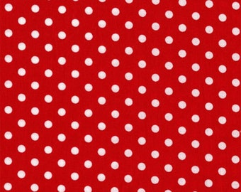 Fat Quarter - Dumb Dot Red White By Michael Miller Fabrics C2490-Red