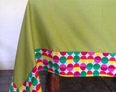"Tablecloth green 57""x 90"" rectangle"