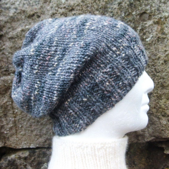 Easy Slouchy Hat Knitting Pattern Straight Needles : KNITTING PATTERN/ CHARLEY Slouchy BeaniePattern/ Easy Beanie