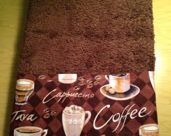 New handmade Coffee Java Guest Hand Towel