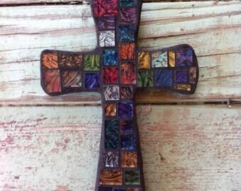 Small Mosaic Van Gogh Cross