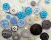 Mixed Snow, encaustic painting, button painting, mixed media, snow, circles, buttons