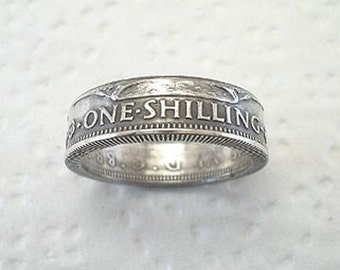 Sizes 4 - 7. Coin Ring. British Silver Shilling.  Place Your Custom Order Here.