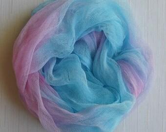 Newborn  Cheesecloth, Newborn Wrap Photography Prop, Pink and Blue Cheesecloth, Baby Wrap, Newborn Photo Prop, Newborn Cheeseclth Wrap