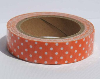 Washi Tape, Orange Polka Dot Fabric Tape
