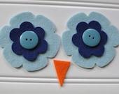 Ollie Owl Hat - Eyes and Beak Kit - Aquamarine and Navy Blue