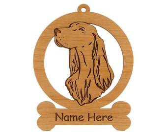 Irish Setter Ornament 083372 Personalized With Your Dog's Name