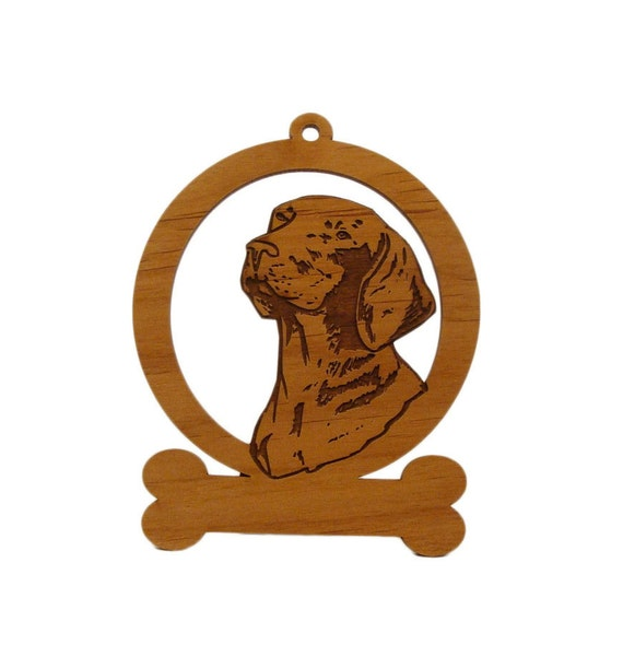 Vizsla Head Dog Ornament 084193 Personalized With Your Dog's Name