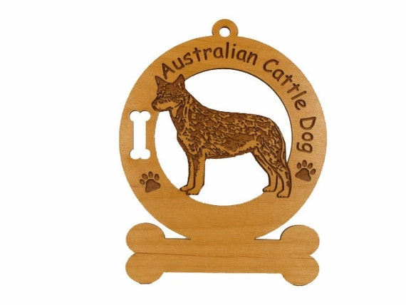 1309 Australian Cattle Dog Standing Personalized Ornament