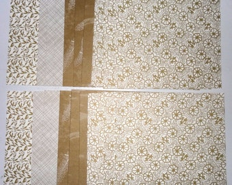 MARTHA STEWART Crafts Gold and Cream Crafting Paper 6 x 6 set of 24