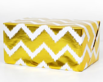 Chevron Gold Foil Wrapping Paper