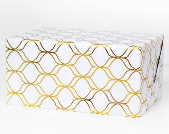 Hour Glass Gold Foil Wrapping Paper