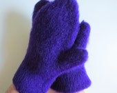Felted Mittens Adult Made in Maine Purple Warm Unique