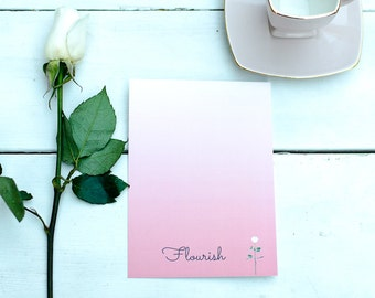 Flourish - Word of the Year - Postcard with envelope