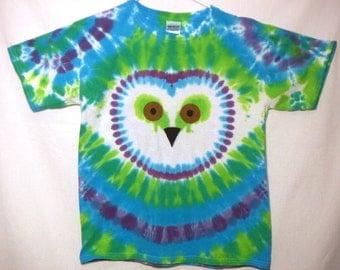 Rainbow Owl Tie Dye Shirt, Owl Shirt, Youth Extra Large