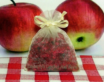 Macintosh Apple Aroma Bead Sachets (Set of 2)  GREAT In THE CAR Air Fresheners